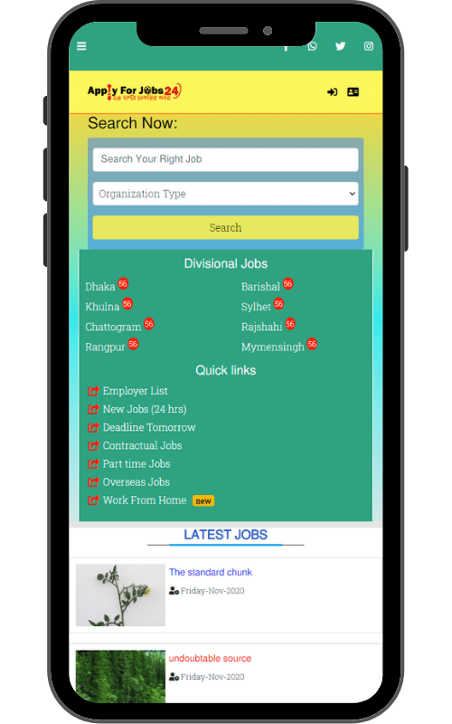 Applu For jobsw 24 app