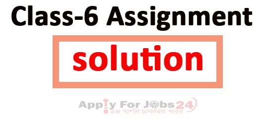Class 6 Assignment Solution